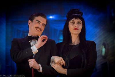 Bobby Libby (Gomez) and Laura O'Brien (Morticia). Photo by Mark McLaughlin.