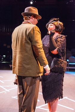 Leland Shook (Richard Hannay) and Erin Gallalee (Annabella). Photo by  David Harback.