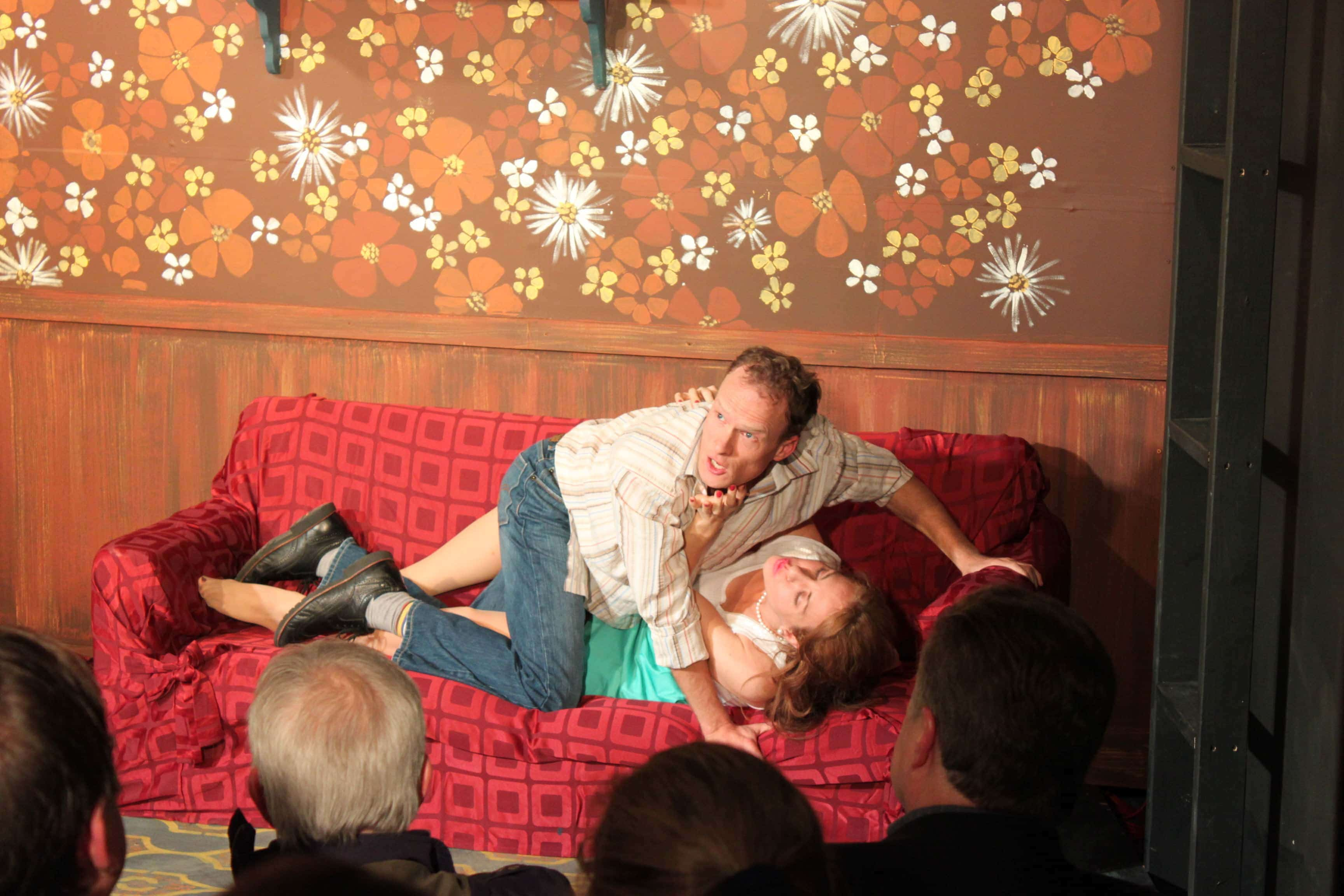 Matt Dundas (Cradeau) and Jennifer Berry (Estelle). Photo by Toly Yarup.