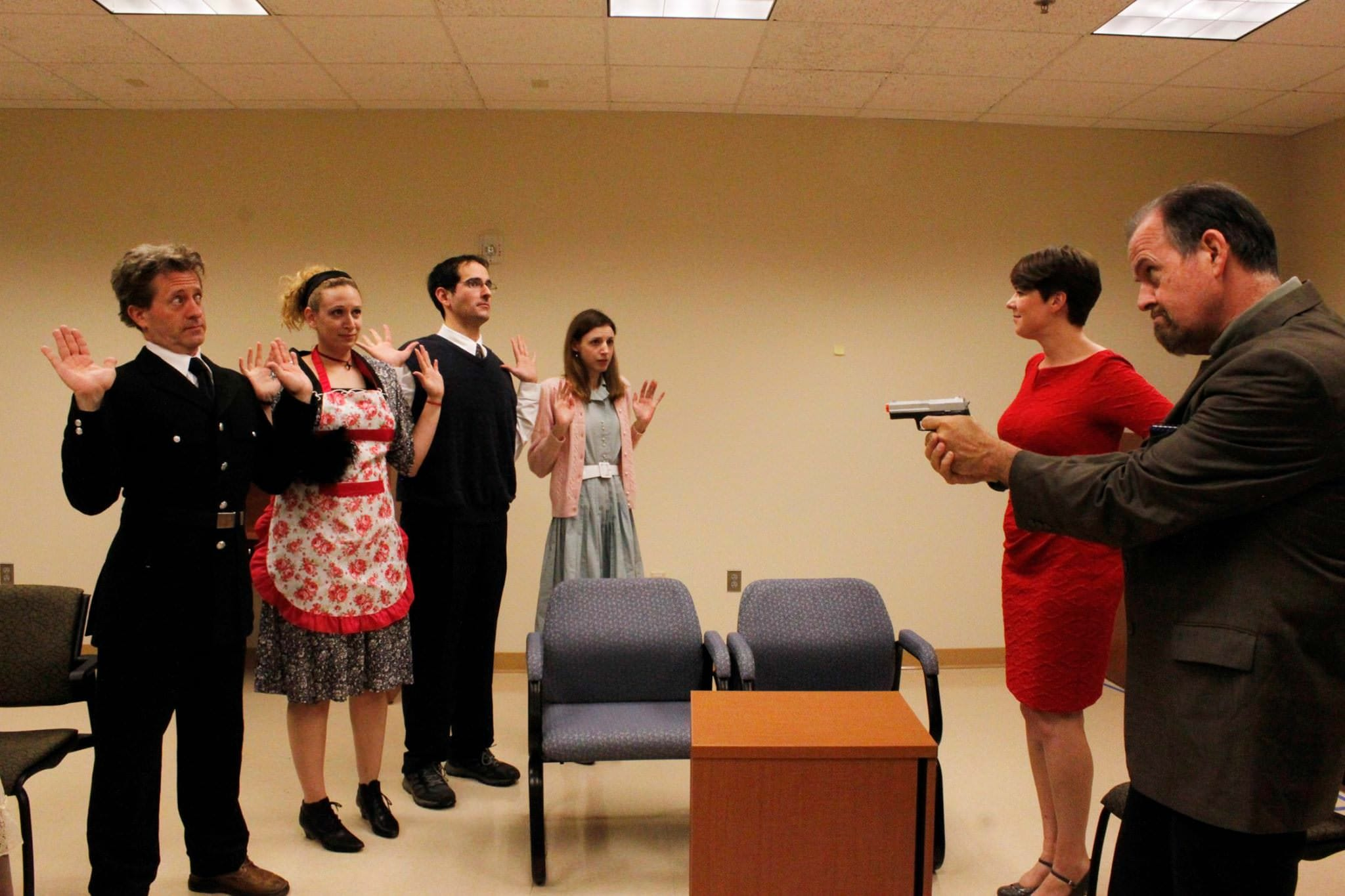 The cast of 'The Murder Room.' Photo. Photo courtesy og Bowie Community Theatre.
