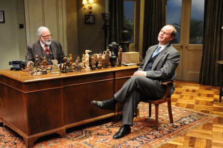 Rick Foucheaux and Todd Scofield in 'Freud's Last Session. 'Photograph by Stan Barouh.