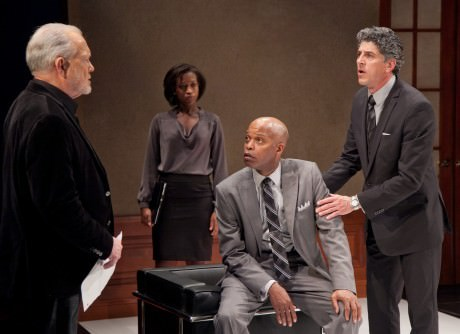 Leo Erickson, Crashonda Edwards, Michael Anthony Williams, and James Whalen in 'Race.' Photo by C. Stanley Photography.