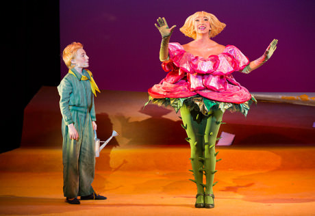 The Little Prince (Henry Wager) and The Rose (Lisa Williamson). Photo by Scott Suchman.