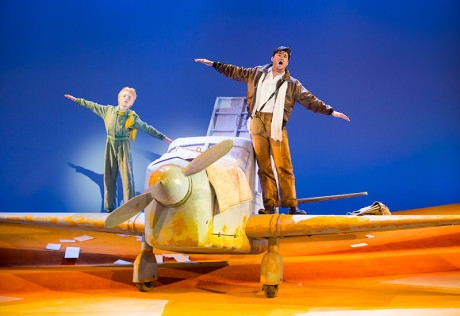 The Little Prince (Henry Wager) and The Pilot (Christian Bowers). Photo by Scott Suchman.