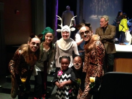 Malia Thornton and cast members after the show.