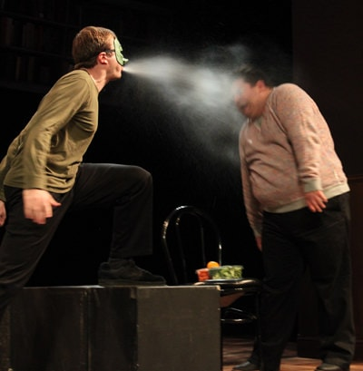 Scene from 'The Enemy Attacks!' by Julia Winkler. Photo by Jeff Gilliland.