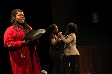 Wild Women Theatre presents Society Unjust by Shannon Marshall. Photo by Jeff Gilliland.