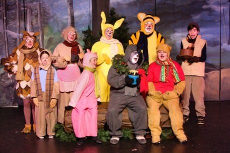 The cast of 'Winnie the Poo: A Christmas Tail.' Photo courtesy of Other Voices Theatre.