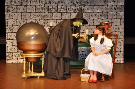 Brielle Herlein (Dorothy Gale) and Amanda Lee Magoffin (The Wicked Witch of the West). Photo by