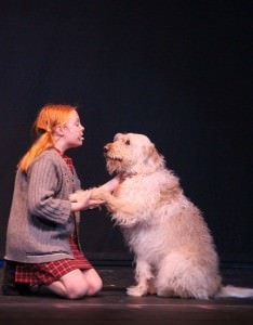 Annie ( Madelyn Mudd) and Sandy (Sunny Fernandes), Photo by Laurie Mudd.