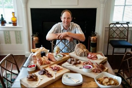 Ben Thompson of The Rock Barn with assorted charcuterie.