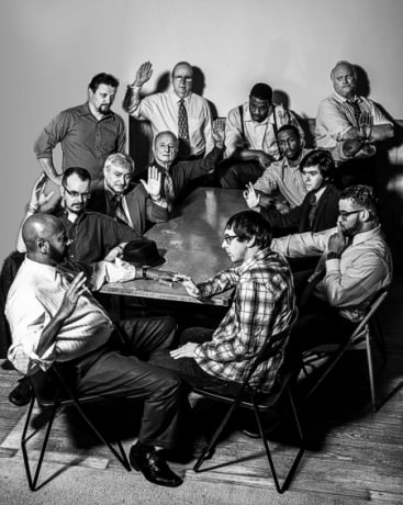 The cast of '12 Angry Men.' Photo by Nathan Jackson.