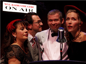 The cast of 'It's A Wonderful Life: Live From WVL Radio.' Photo courtesy of Immediate Theatre Project.