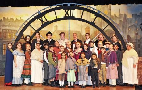 The cast of 'A Christmas Carol.' Photo by Veronica Bruno.