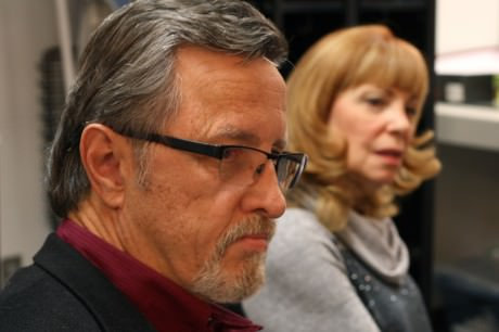 Gary Grabau (Mr. Potter) and Ilene Chalmers (Aunt Tilly)/ Photo by Emma K. McDonnell.