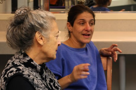 Kathryn Marshall (Mrs. Hatch) and Terri Laurino (Ma Bailey). Photo by  Emma K. McDonnell.