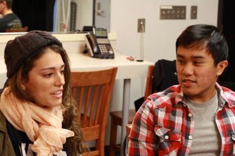 Megan Abdo (Violet), and Diego Esmolo (Mr. Martini). Photo by Emma K. McDonnell.