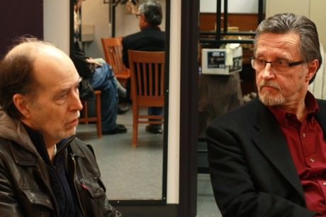 Bill Stanley (Uncle Billy) and Gary Grabau (Mr. Potter). Photo by   Emma K. McDonnell.