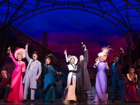 Steffanie Leigh as Liane d'Exelmans, Howard McGillin as Honore Lachaille, Victoria Clark as Mamita, Vanessa Hudgens as Gigi, Corey Cott as Gaston Lachaille, Dee Hoty as Aunt Alicia and the cast of 'Gigi.' Photo by Joan Marcus.