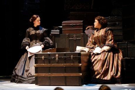 Mary Bacon (Mary Lincoln) and Caroline Clay (Elizabeth Keckly).  Photo by Carol Rosegg.