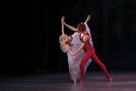 F. Stepin and S.Ivanova in 'Le Spectre de la rose.' Photo by N. Razina.