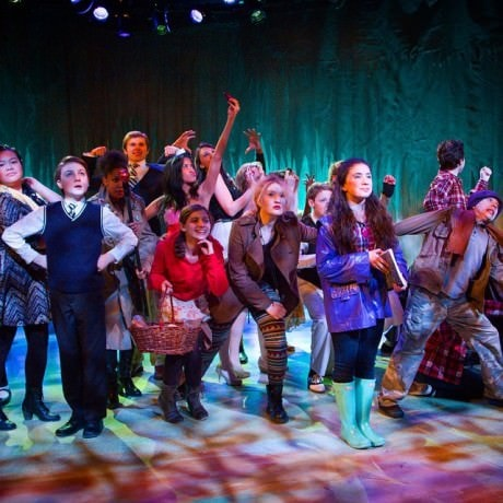 The cast of Into the Woods JR. Photo by Ian Band.