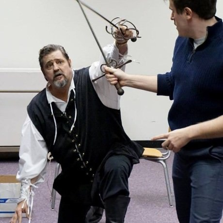 Fred in rehearsal. Photo courtesy of 2nd Star Productions.