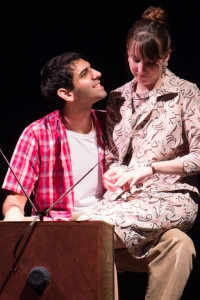 Danny Issa as Christy and Casey Bauer as Gloria. Photo courtesy of Vienna Theatre Company.