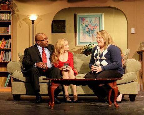 Brian Terrell, Sandra DeRocha, and Megan West. Photo by Adam Blackstock.