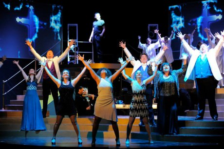 """The cast of """"The Music of Andrew Lloyd Webber.' Photo by Suzanne Carr-Rossi."""