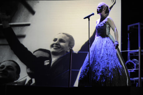 """Sheri Hayden performing """"Don't Cry For Me Argentina"""" from 'Evita.' Photo by Suzanne Carr-Rossi."""