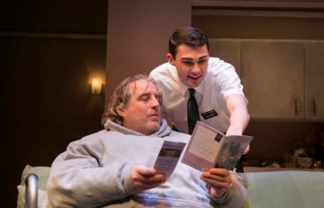 Michael Russotto as Charlie and Wood Van Meter as Elder Thomas Photo by Katie Simmons-Barth.