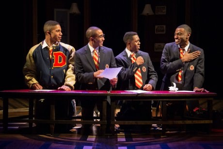 Jaysen Wright, Jonathan Burke, Eric Lockley, and Jelani Alladin in Choir Boy at Studio Theatre. Photo by Igor Dmitry.