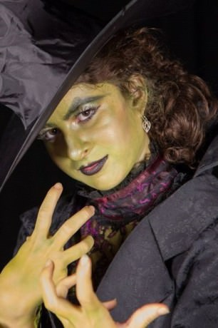 Ally Baca (The Wicked Witch of the West). Photo by Kathleen Ouellette.