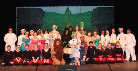 Cast of Wizard of Oz. Photo by Kathleen Ouellette.