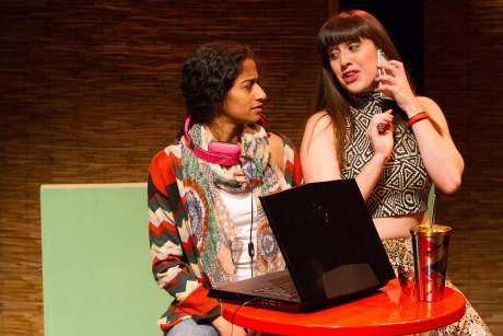 Anu Yadav (Evie) and Dani Stoller (Kitty). Photo by Teresa Wood.
