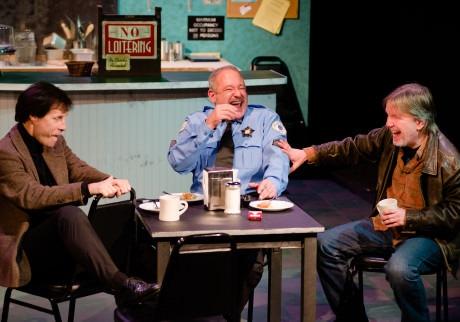 (l to r) Anthony van Eyck (Bob Barberson), Dan Alexander (Gene Czerwicki), and Bruce Alan Rauscher (Jack Rolf). Photo by Johannes Markus.