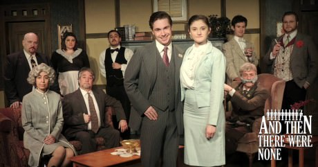 Cast of And Then There Were None. Photo courtesy of Way Off Broadway Dinner Theatre.
