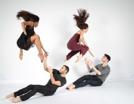 Top Left to Right... Dana Pajarillaga, CityDance Conservatory, Class of 2013 and The Juilliard School Candidate, Class of 2017;Diana Amalfitano, CityDance Conservatory, Class of 2013 and Purchase College, SUNY, Class of 2017;Bottom Left to Right: Robert J. Priore, CityDance OnStage Ignite Artist; and Matthew McLaughlin, CityDance Conservatory, Class of 2013 and Purchase College, SUNY, Class of 2017. Photo courtesy of CityDance.