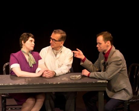 Lena-Winter (Joan), Bill Hurlbut (Larry-) and David-Dieudonne (Ken). Photo by Harvey Levine.