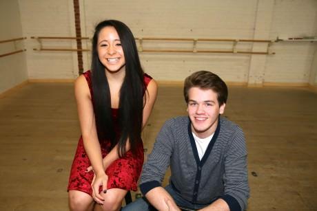 Kyra Smith (Cathy) and Ben Cherington (Jamie). Photo courtesy Metropolitan Youth Arts Theatre.