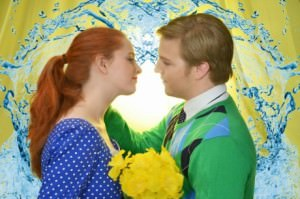 Time stops for Sandra (Rachel Lawhead) and Edward (Alex Stone) as their story begins. Photo by Isabel Zapata.