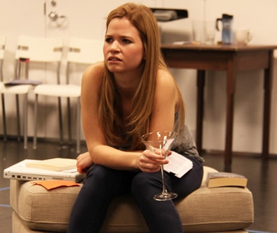 Maggie Erwin as Avery Willard in Round House Theatre's 'Rapture, Blister, Burn.' Photo by Danisha Crosby.