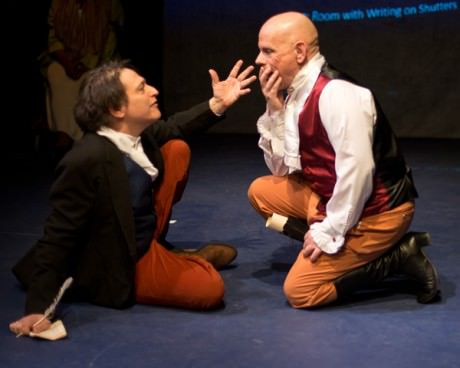 (L-R) Joseph Mariano (Ludwig Van Beethoven) and Mario Font (Anton Schindler). Phot by Harvey Levine.