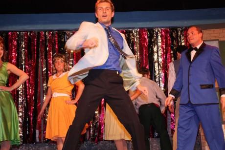 Derek as Link in 'Hairspray.' Photo courtesy of Way Off Broadway.