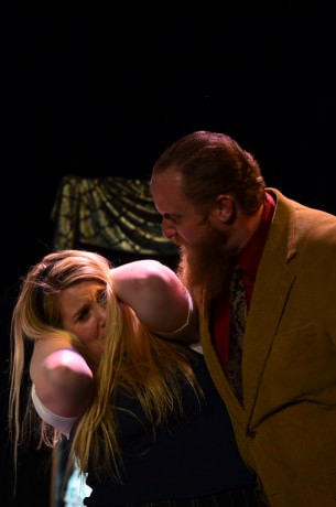 Alice Liddell (Lindsay Steinberg) and Mr. Griffin (Peter Ponzini). Photo by Dave Warner of Route 37 Photography.