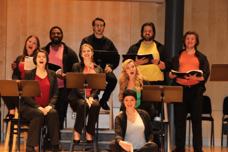 Cast of 'A Family Reunion'. Photo courtesy of Maryland Opera Studio.