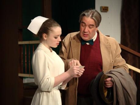 MerryRose Howley (Nurse Kelly) and Tom Howley (Elwood P. Dowd). Photo by John Cholod.