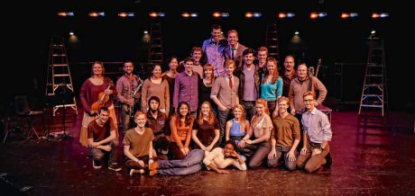 The cast of the University of North Carolina's 'Unlimites.' Photo courtesy of No Rules Theatre Company.