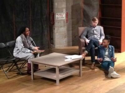 Natasha Gallop, Kiernan McGowan, and Latia Stokes. Photo courtesy of CUA Hartke Theatre.